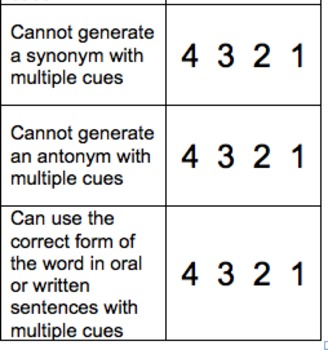 Informational Text and Academic Vocabulary Rubrics