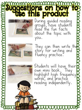Informational Text for Guided Reading in Spanish- SPRING EDITION Lectura guiada