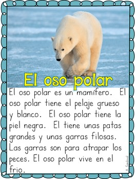 Informational Text for Guided Reading in Spanish- WINTER EDITION Lectura guiada