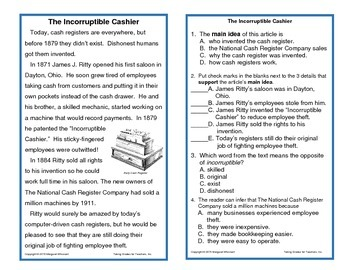 Informational Text for Interactive Notebooks, Task Cards (Main Idea Set 2)