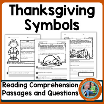 Thanksgiving Symbols Reading Comprehension Passages