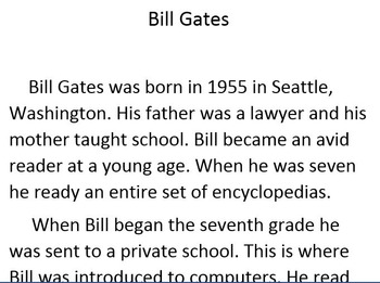 Informational Text of Bill Gates and Steve Jobs