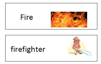 Informational Text on Fire Safey;Glyph;Certificates; Word Wall