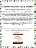 Informational Text and Questions About Insects - Common Core Aligned