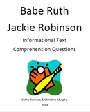 Informational Text on Jackie Robinson and Babe Ruth