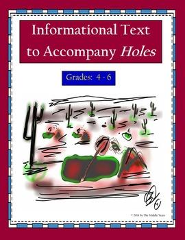 Informational Text to Accompany Holes