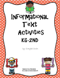Informational Texts K-2nd