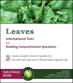 Informational Texts about Plant Leaves