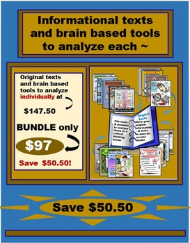 Original Texts and Brain Based Tools to Analyze - Bundle