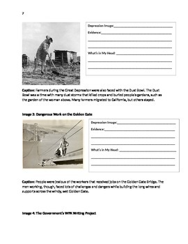Informational Texts and Visuals on Great Depression Issues
