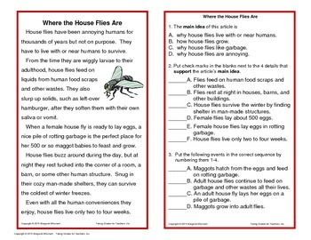 Informational Text for Interactive Notebooks and Task Cards (Main Idea Set 1)