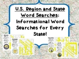 Informational Word Searches: The 50 States and U.S. Regions
