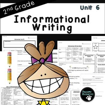 Second Grade Informational Writing Unit (EDITABLE!)