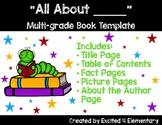 Informational Writing ALL ABOUT book template