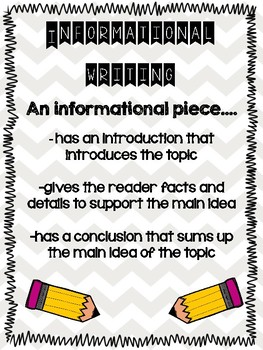 Informational Writing Activities