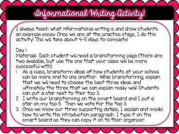 Informational Writing Activity!