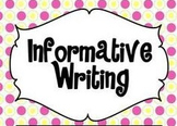 Informational Writing Activity