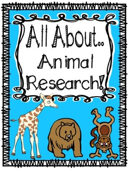 Informational Writing All About Animal Research Writing Bundle!