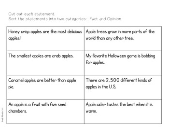 Informational Writing All About Apples Freebie