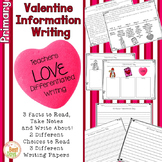 Valentine's Day Writing Prompt: All About Valentines Day Primary Interactive Wrt