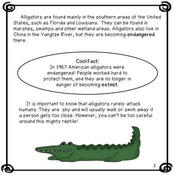 Nonfiction Reading and Writing: Alligators