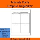 Informational Writing- Animal Facts Graphic Organizer
