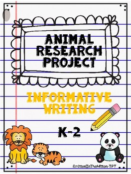 Informative Writing Animal Research Project Non Fiction