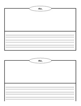Informational Writing Book Template