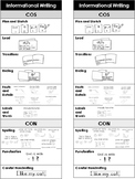Informational Writing Bookmark and/or Checklist - COS & CON