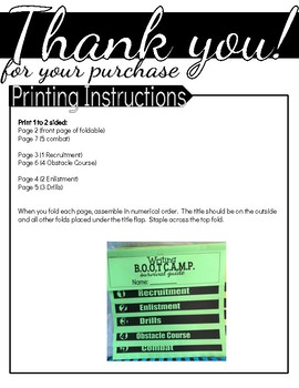 Informational Writing Boot Camp