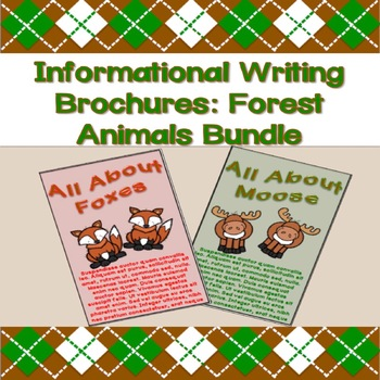 Informational Writing Brochures: Forest Animals Bundle Pack