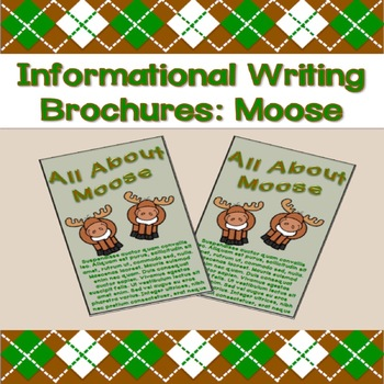 Informational Writing Brochures: Moose