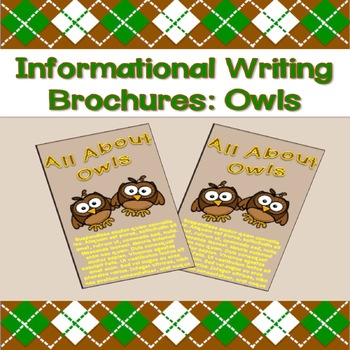 Informational Writing Brochures: Owls
