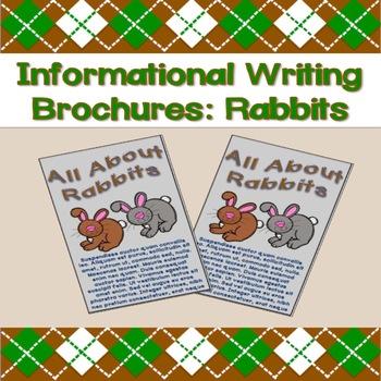 Informational Writing Brochures: Rabbits