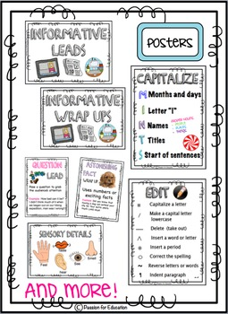 Informational Writing Bundle!! (Posters, Graphic Organizers, Checklists & More)