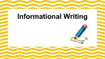 Informational Writing Bundle...Common Core Aligned