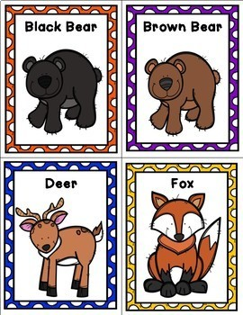 Informational Writing Cards - Forest Animals