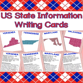 Informational Writing Cards - US States
