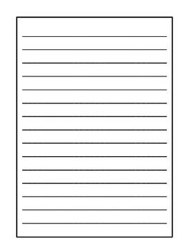 Informational Writing Choice Board & Lined Paper with Embedded Rubric