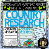 Informational Writing: Country Research Digital and Printable!