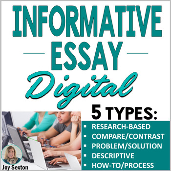Informational Writing DIGITAL: 5 Informative Essays for Google or Microsoft