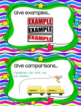 Informational Writing - Elaboration Chart Cards