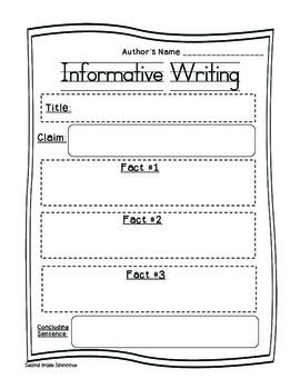 Informational Writing FREEBIE
