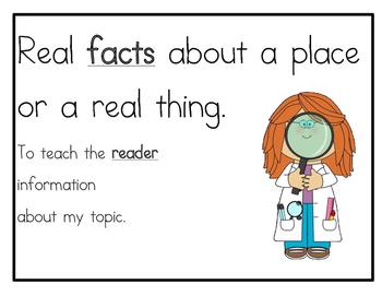 Informational Writing First Grade