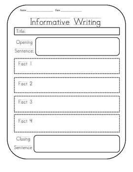 Informational Writing Graphic Organizer