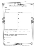 Informational Writing Graphic Organizer