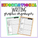 Informational Writing Graphic Organizer | Print & Digital