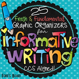 Informational Writing Graphic Organizers | Common Core Aligned