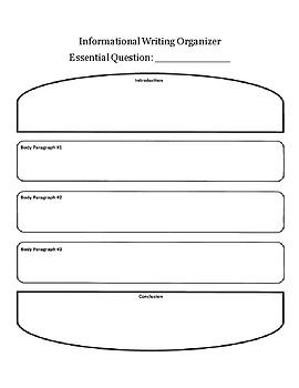 Informational Writing Graphic Organizers