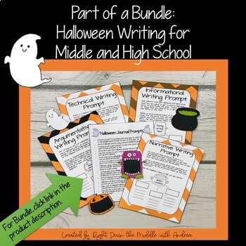 Informational Writing: Halloween Writing for Middle and High School